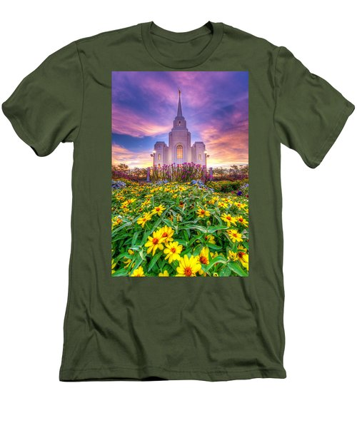 Brigham City Temple Men's T-Shirt (Slim Fit) by Dustin  LeFevre