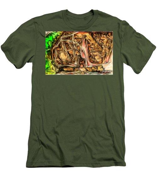 Bright Gloomy Roar Oar  Men's T-Shirt (Athletic Fit)