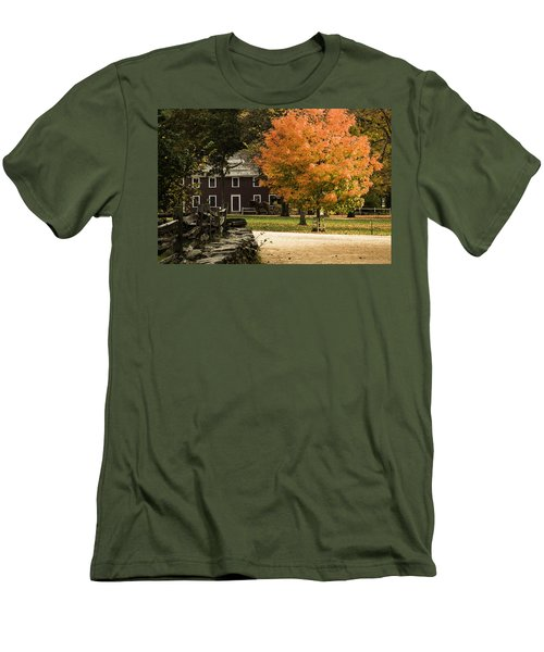 Men's T-Shirt (Slim Fit) featuring the photograph Bright Orange Autumn by Jeff Folger