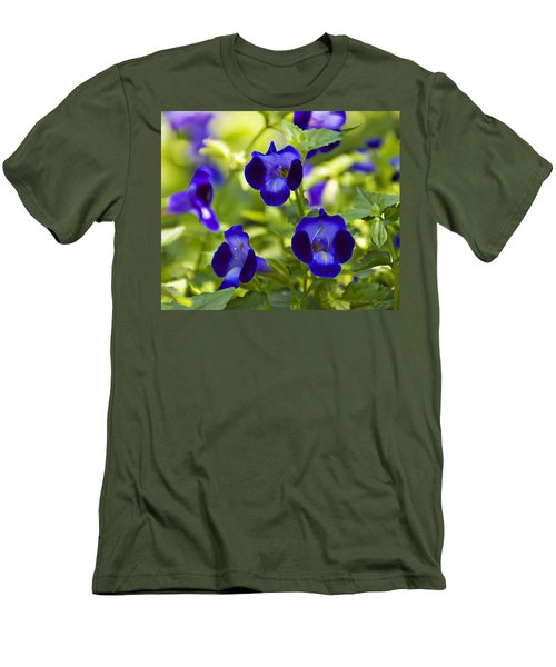 Brilliant Blues  Men's T-Shirt (Slim Fit) by Walter Herrit
