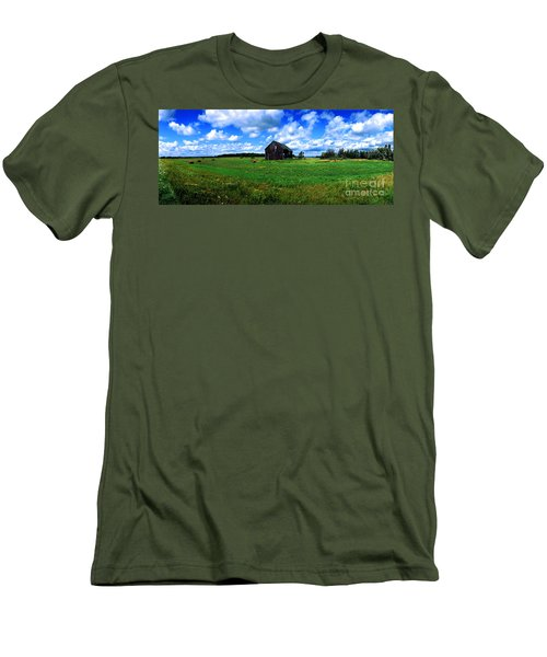 Brimley Farm Near  Sault Ste Marie Michigan  Men's T-Shirt (Athletic Fit)