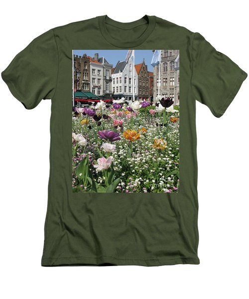 Men's T-Shirt (Athletic Fit) featuring the photograph Brugge In Spring by Ausra Huntington nee Paulauskaite