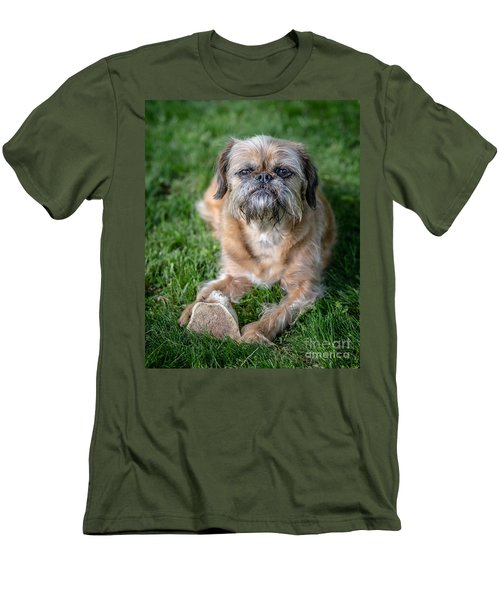 Brussels Griffon Men's T-Shirt (Slim Fit) by Edward Fielding