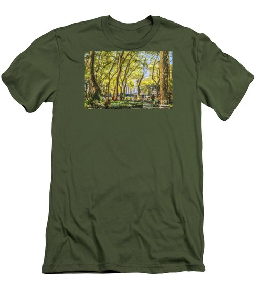 Bryant Park October Morning Men's T-Shirt (Athletic Fit)