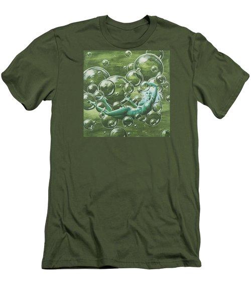 Bubbles Men's T-Shirt (Slim Fit) by Jack Malloch