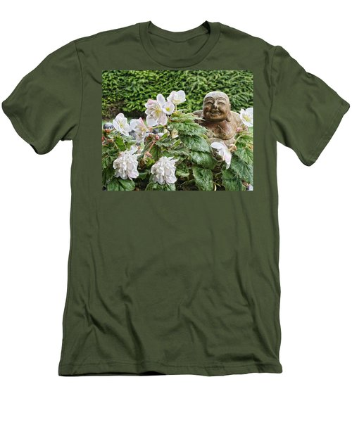 Budda And Begonias Men's T-Shirt (Slim Fit)