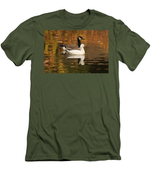 Men's T-Shirt (Slim Fit) featuring the photograph Buddies by Amy Gallagher