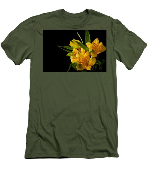 Men's T-Shirt (Slim Fit) featuring the photograph Budding Flowers by Sennie Pierson