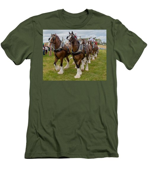 Budweiser Clydesdales Men's T-Shirt (Athletic Fit)