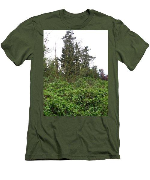 Bus Stop Greenbelt Men's T-Shirt (Slim Fit) by David Trotter