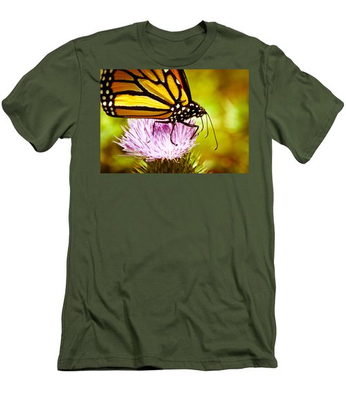 Men's T-Shirt (Slim Fit) featuring the photograph Busy Butterfly by Cheryl Baxter