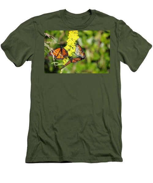 Men's T-Shirt (Slim Fit) featuring the photograph Butterflies Abound by Greg Graham