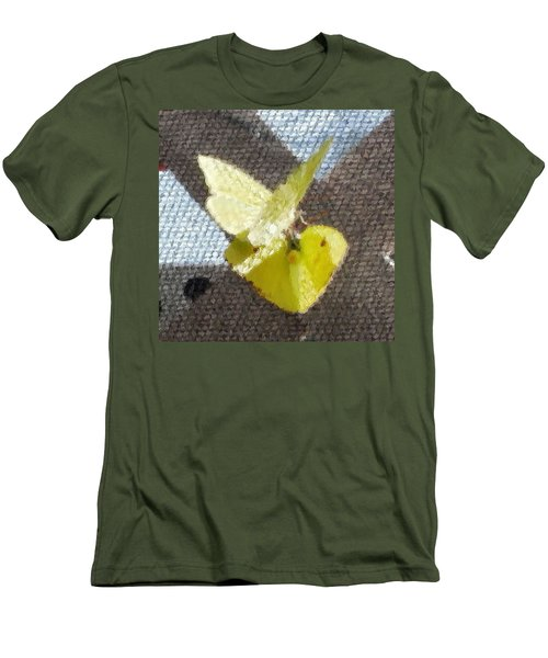 Men's T-Shirt (Slim Fit) featuring the photograph Sulfur Butterflies Mating by Belinda Lee