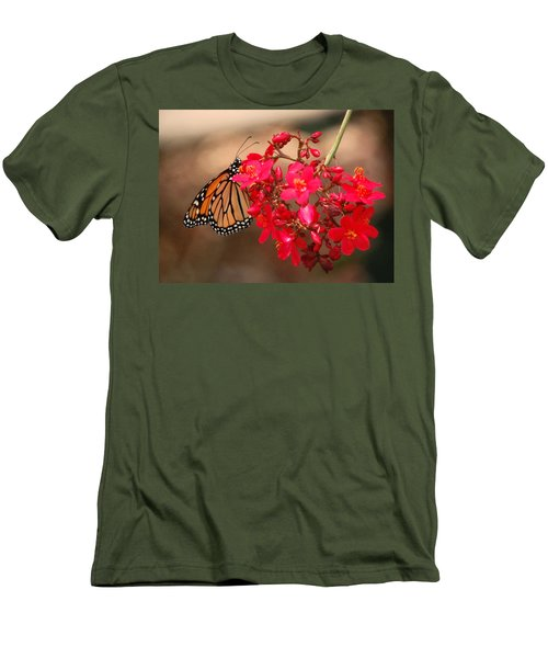 Men's T-Shirt (Slim Fit) featuring the photograph Butterfly 1 by Leticia Latocki