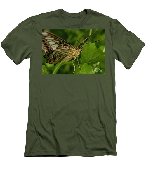 Men's T-Shirt (Slim Fit) featuring the photograph Butterfly 2 by Olga Hamilton