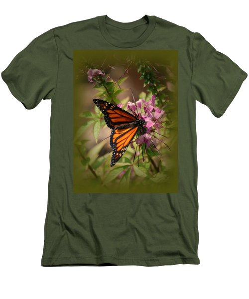 Men's T-Shirt (Slim Fit) featuring the photograph Butterfly 5 by Leticia Latocki