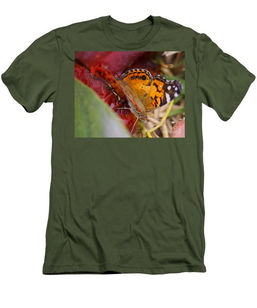 Men's T-Shirt (Slim Fit) featuring the photograph Butterfly by Erika Weber