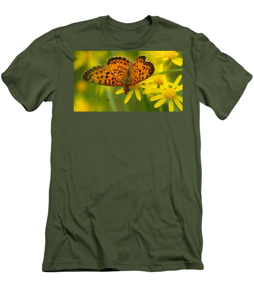 Men's T-Shirt (Slim Fit) featuring the photograph Butterfly by James Peterson
