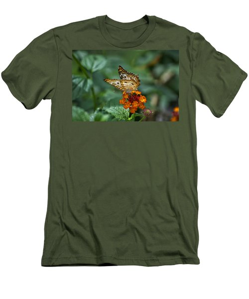 Men's T-Shirt (Slim Fit) featuring the photograph Butterfly Wings Of Sun Light by Thomas Woolworth
