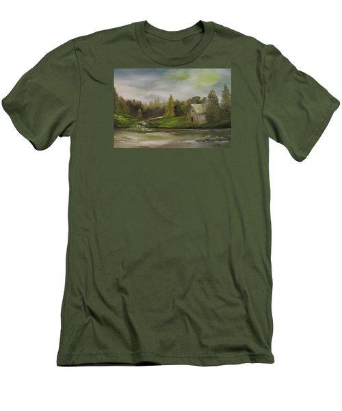 Cabin Retreat Men's T-Shirt (Athletic Fit)
