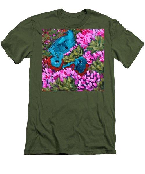 Cactus Flower Blue Bird Dream Men's T-Shirt (Athletic Fit)