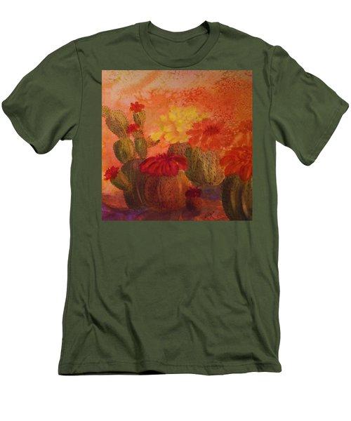 Cactus Garden - Square Format Men's T-Shirt (Athletic Fit)