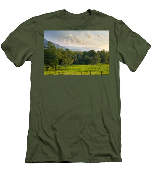Cades Cove Men's T-Shirt (Slim Fit) by Melinda Fawver