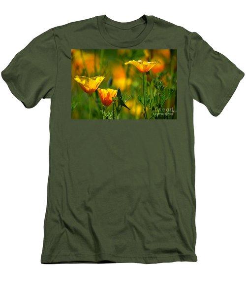 California Poppies Men's T-Shirt (Slim Fit) by Deb Halloran