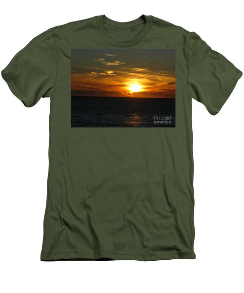 California Winter Sunset Men's T-Shirt (Slim Fit) by Mini Arora