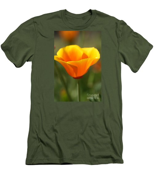 Californian Poppy Men's T-Shirt (Slim Fit) by Joy Watson