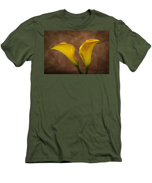 Men's T-Shirt (Slim Fit) featuring the photograph Calla Lilies by Sebastian Musial