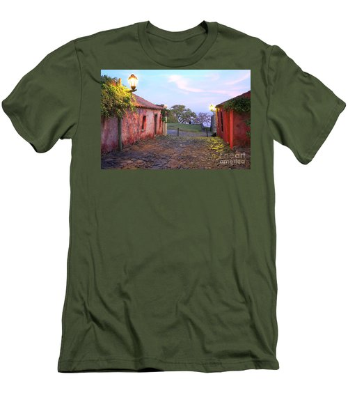 Men's T-Shirt (Slim Fit) featuring the photograph Calle De Los Suspiros by Bernardo Galmarini