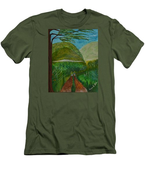 Men's T-Shirt (Slim Fit) featuring the painting Called To The Mission Field by Cassie Sears