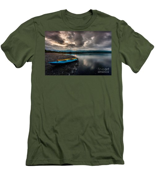 Calm Evening Men's T-Shirt (Slim Fit) by Steven Reed