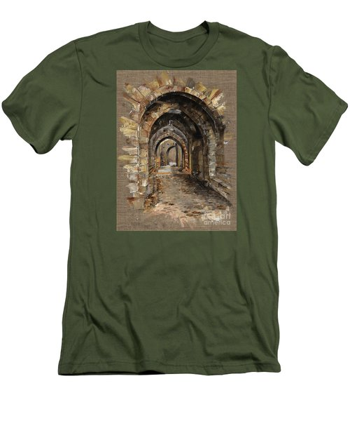 Camelot -  The Way To Ancient Times - Elena Yakubovich Men's T-Shirt (Slim Fit) by Elena Yakubovich