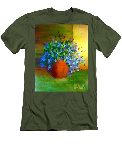 Campanula In Terra Cotta Men's T-Shirt (Slim Fit) by Desiree Paquette