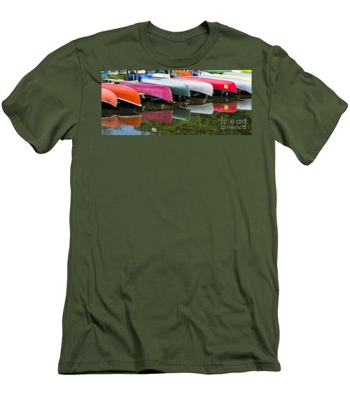 canoes - Lake Wingra - Madison  Men's T-Shirt (Athletic Fit)