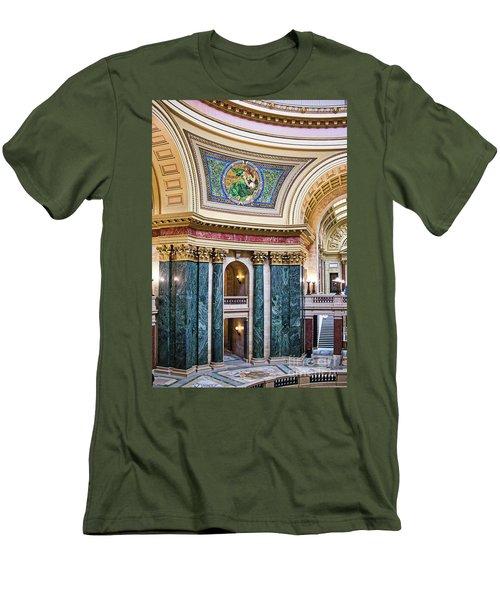 Capitol - Madison - Wisconsin Men's T-Shirt (Slim Fit) by Steven Ralser