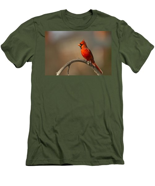 Men's T-Shirt (Slim Fit) featuring the photograph Cardinal by Jerry Gammon