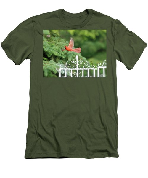 Men's T-Shirt (Slim Fit) featuring the photograph Cardinal Time To Soar by Thomas Woolworth
