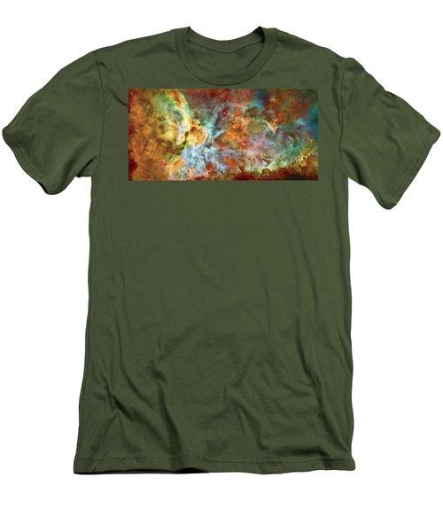 Carina Nebula - Interpretation 1 Men's T-Shirt (Slim Fit) by Jennifer Rondinelli Reilly - Fine Art Photography