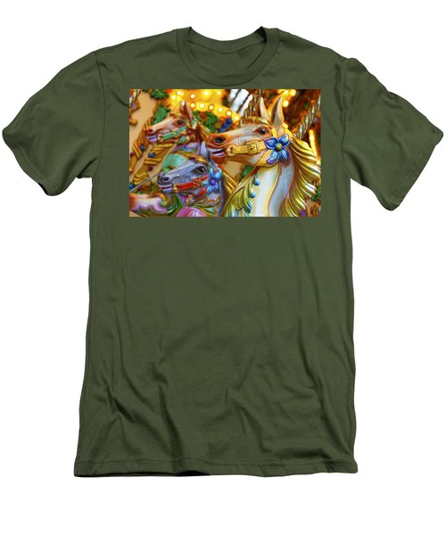 Carousel Horses Men's T-Shirt (Athletic Fit)