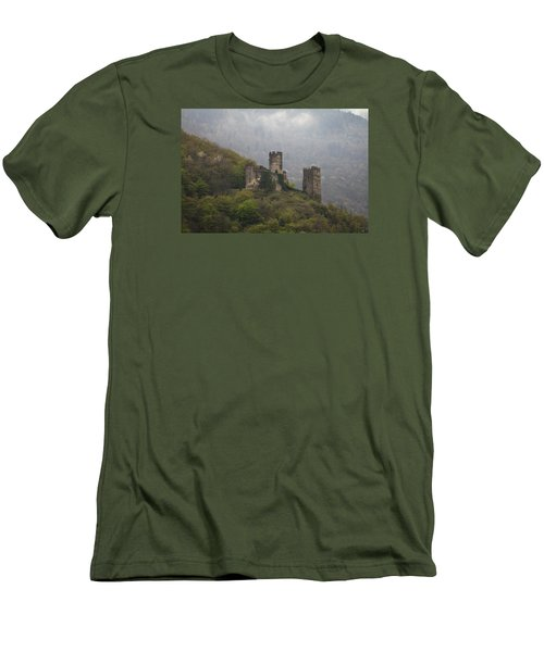 Castle In The Mountains. Men's T-Shirt (Slim Fit) by Clare Bambers
