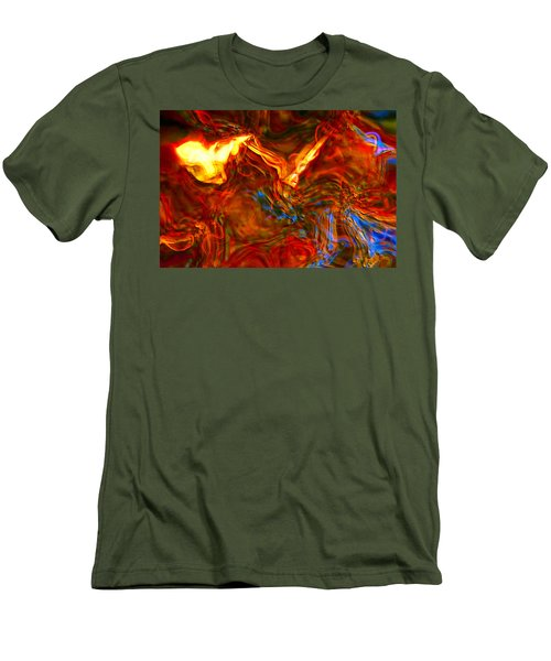 Men's T-Shirt (Slim Fit) featuring the digital art Cat And Caduceus In The Matmos by Richard Thomas