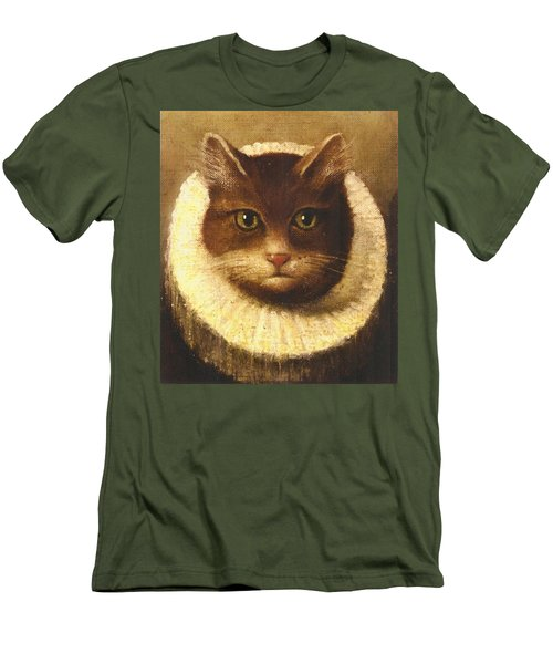 Cat In A Ruff Men's T-Shirt (Slim Fit) by Vintage Art