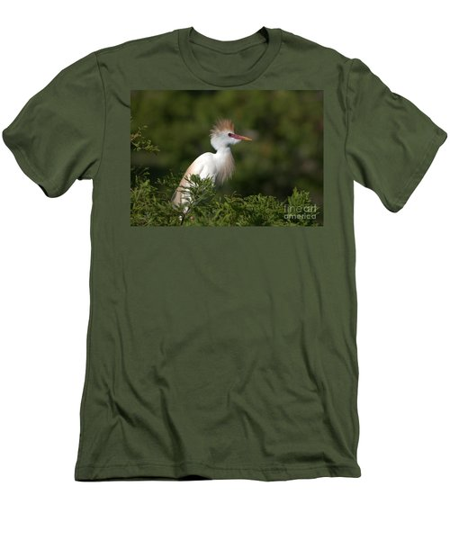 Cattle Egret No. 5 Men's T-Shirt (Athletic Fit)