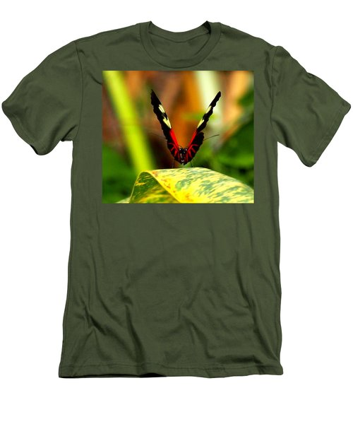 Men's T-Shirt (Slim Fit) featuring the photograph Cattleheart Butterfly  by Amy McDaniel