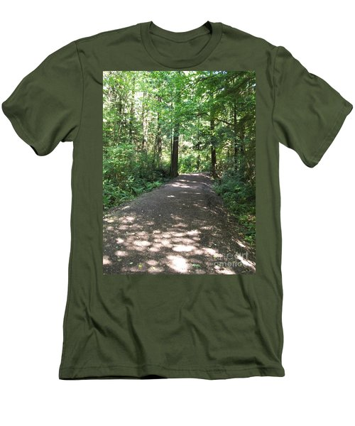 Cedar Shadow Steps Men's T-Shirt (Athletic Fit)