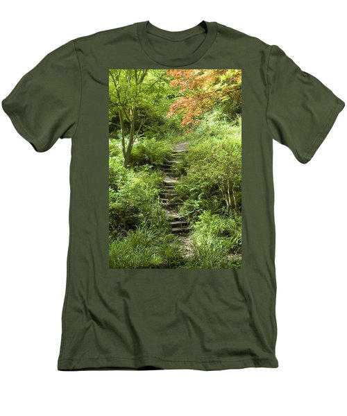 Men's T-Shirt (Slim Fit) featuring the photograph Cefn Onn by Jeremy Voisey
