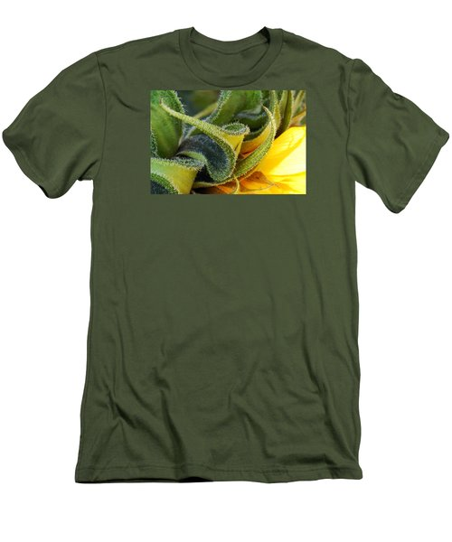 Men's T-Shirt (Slim Fit) featuring the photograph Celebration Sunflower by Wendy Wilton